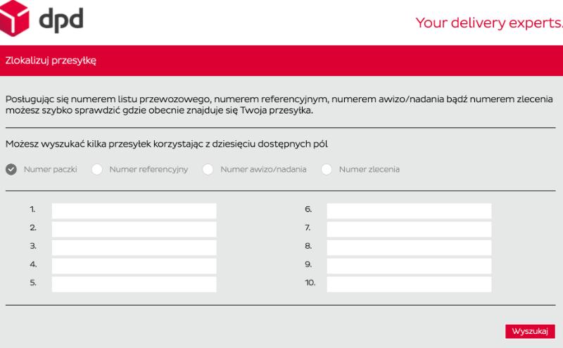 Śledzenie przesyłek na stronie DPD Polska